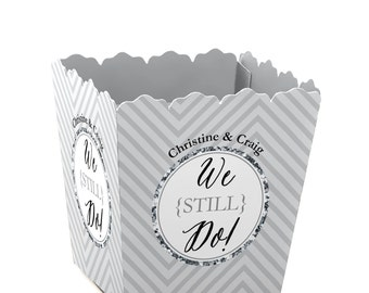 We Still Do - Custom Wedding Anniversary - Custom Small Candy Boxes - Personalized for Anniversary Party Supplies - Set of 12