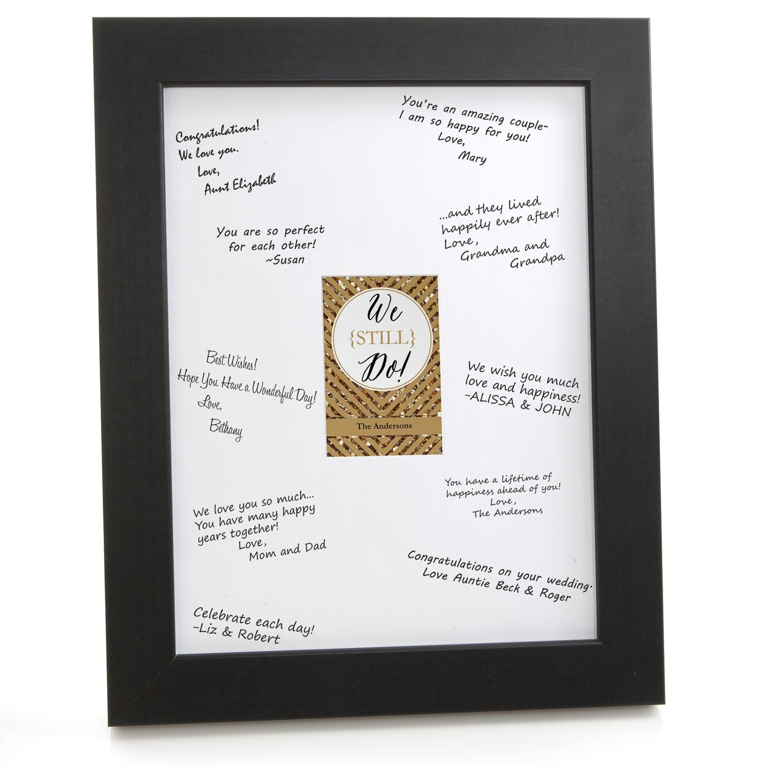 50th Birthday Signature Photo Frame: We Still Do 50th Wedding Anniversary Signature Mat For A