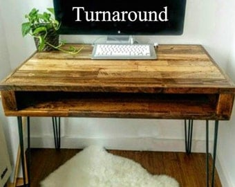 Reclaimed Wood Desk with a 96 Hour Turn Around