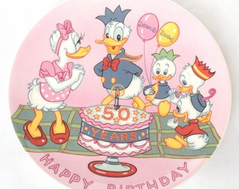 Donald Duck's 50th birthday plate - Disney - Fifty years of Donald Duck - 50th anniversary