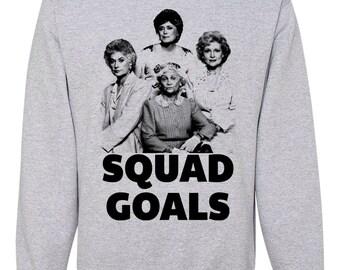 The Golden Girls Squad Goals Tote Bag funny image bag humor