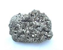 "Large Pyrite Cluster / Fools Gold Pyrite Crystal Cluster / Pyrite Specimen Peru 2.75X2X1.25"" 175g/ Prosperity Abundance Grid / Natural Decor"