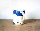 Bright Blue Elephant Mug