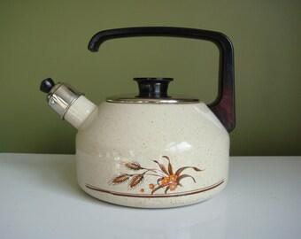 Vintage Enamel Whistling Tea Kettle  - Epsteam