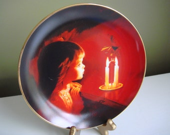 Vintage Collector Plate - Candlelight Magic - 1991 - Epsteam