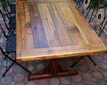 Reclaimed outdoor table