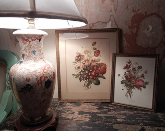 Pair of Vintage Floral Pictures!