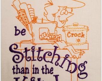 Stitching Kitchen Machine Embroidery Design Instant Download