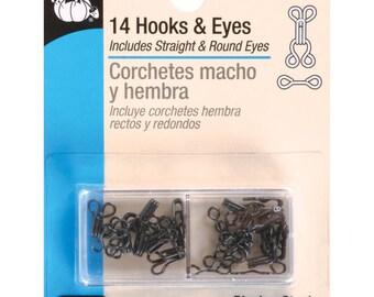 Dritz 14 Hooks & Eyes Size 2