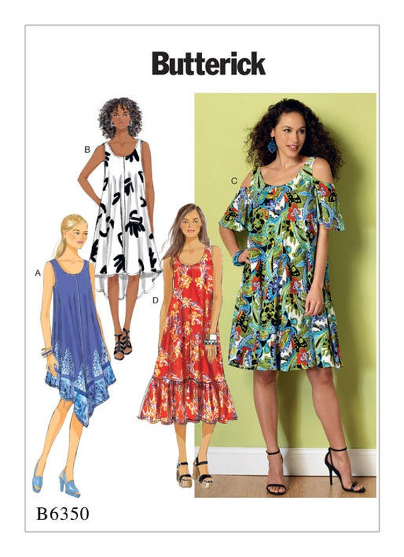 Butterick Sewing Pattern B6350 Misses' Sleeveless and Cold