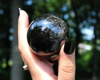 45mm Sheen Obsidian Sphere