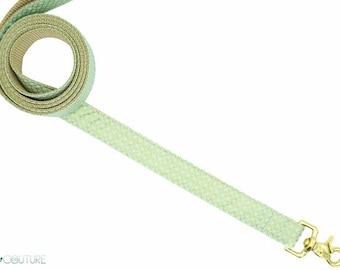 Mint and Gold Dog Leash; Mint Julep