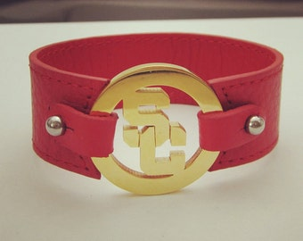 Women's Leather Bracelet - USC, Trojans, Jewelry, Accessories