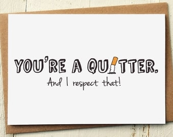 Congrats Card - Well Done Card - Well Done - Quit Smoking - Stop Smoking - Encouragement Card - Congratulations Card - Funny Greeting Cards