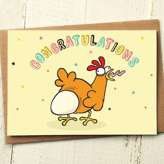 Funny Pregnancy Card Funny New Baby Card Congrats Baby