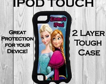 Monogram iPod 6 Touch 2 Layer Tough Case Personalized iPod 5 Case Anna & Elsa Frozen Inspired Monogrammed 2 Layer Protective iPod Case #2296