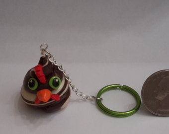 Chicken Poop Keychain