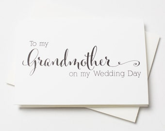 Wedding Day Card, To My Grandmother on My Wedding Day, Wedding Day Cards (WD230-CN)
