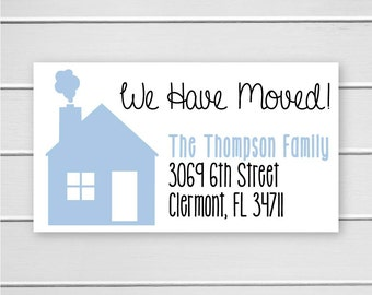 We Have Moved Address Stickers, We've Moved Address Labels, Return Address Stickers (#304)