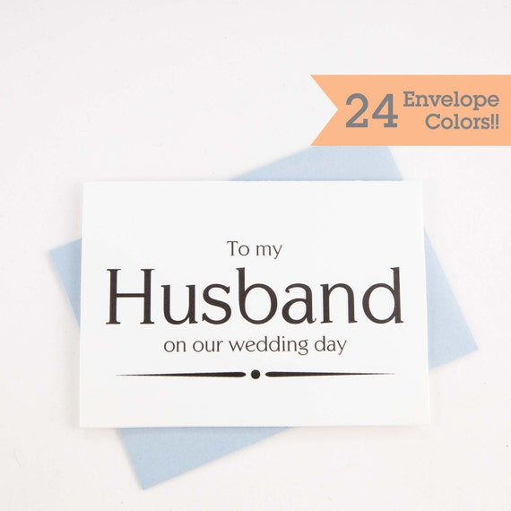 To My Husband On Our Wedding Day: To My Husband On Our Wedding Day Card On My Wedding Day