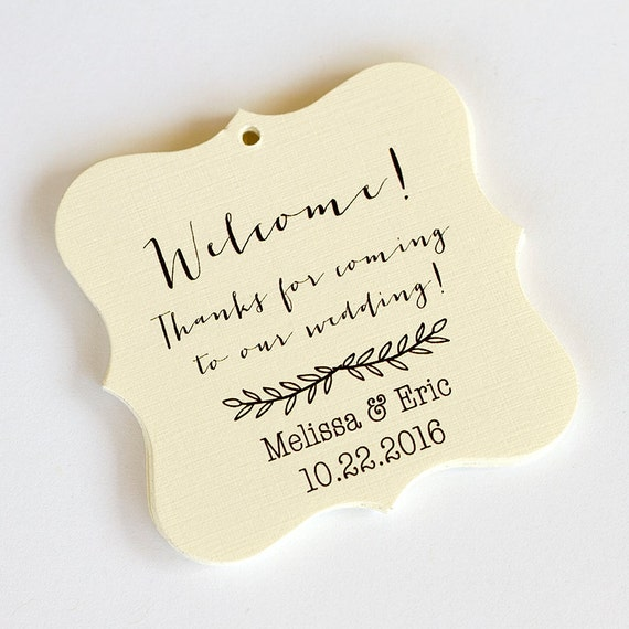 Thanks For Coming To Our Wedding Tags Custom By