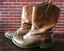 Vintage Lake of the Woods Cowboy Boots Size 10