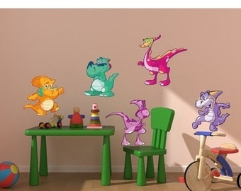 20% SALE - FREE SHIPPING Baby Dino Set Iii nursery wall decal, deco, sticker, mural, vinyl wall art