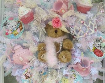 Shabby Tea Party Wreath