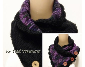 Reversible Super Thick Very Soft Neckwarmer Wool Blend Not Itchy