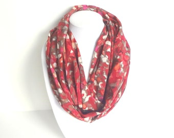 Burgundy Scarf, Printed Scarf, Abstract Scarf, Dark Red Scarf, Mother's Day Gift, Maroon scarf, Watercolor Scarf, Spring Accessory