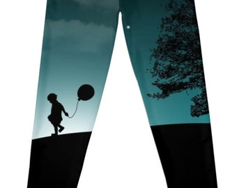 NEW 'Boy With Balloon' Leggings - Available in LOTS of sizes!