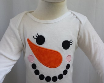 Snowgirl Christmas Top