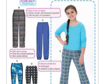 McCall's Pattern M7426 Girls'/Girls' Plus Pull-On Pants and Leggings
