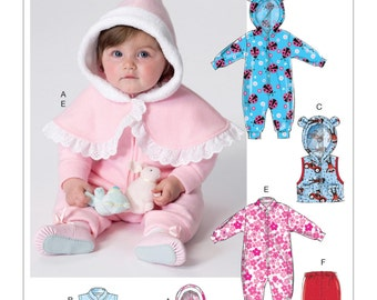 Butterick Pattern B6372 Infants' Cape, Vest, Buntings and Pull-On Pants