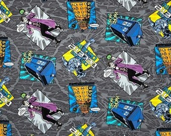 Dr Who Madman with a Dr Who Cotton Fabric Sold by the Yard