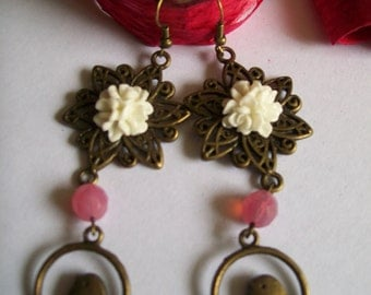 bronze color earring