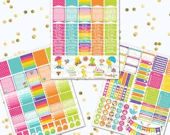 50% Off Spring Printable Planner Stickers Weekly Kit pdf and 3 jpeg Erin Condren Life Planner Kikkik Filofax
