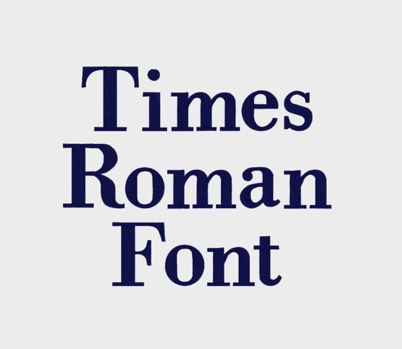 Times Roman Machine Font Alphabet In Multiple File Formats In