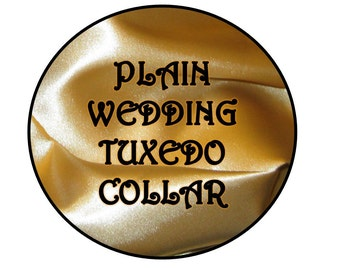 Plain Wedding Tuxedo Collar, No Bow Tie or Bow