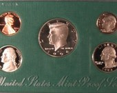 USA Proof Set, 1994 UNC Proof Coin Set, Washington Quarter Coin, Kennedy Half Dollar Coin, 5 Coin Set, Uncirculated Coin Set, US Mint Coins