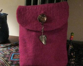 Felted Wool Tarot Bag and Tarot Cards and Book