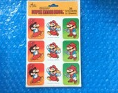 1989 Mario Stickers Brand New! 36 Super Mario Stickers! 4 Sheets! Rare & Official Nintendo Product! Great Gift