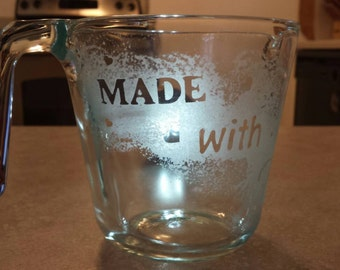Made with Love upcycled measuring cup