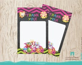 Shopkins Thank you card - INSTANT DOWNLOAD - Shopkins Thank you Note - Shopkins instant download thank you card - printable, digital file