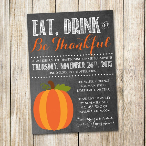 Thanksgiving Printable Invitations Thanksgiving Wikii