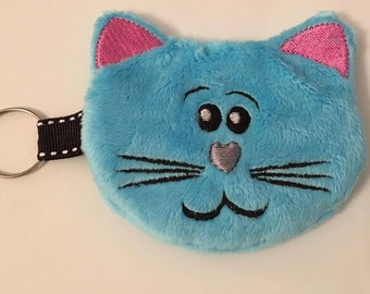 NNC ITH Cat zipped Purse for the 4x4 hoop in all popular formats