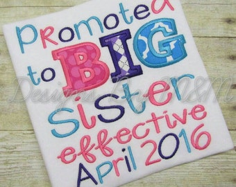 Promoted To Big Sister Shirt, Big Sister Shirt, Big Sister, I'm Going To Be A Big Sister, Sister Shirt