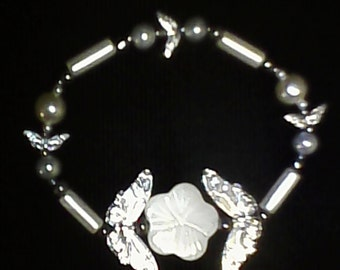 Pearls and Butterflies Bracelet