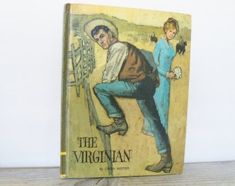 The Virginian Vintage Children's Picture Book Western Explorer Classic Press Educator Classic Library No6 Owen Wister Don Irwin 1968
