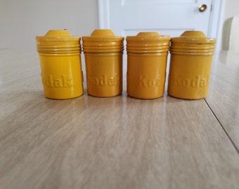 Vintage Mustard Yellow Kodak Film Containers